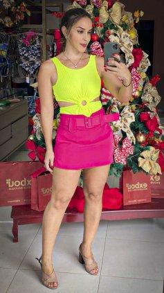 Imagem - Short Saia Rosa Pink - Rosa