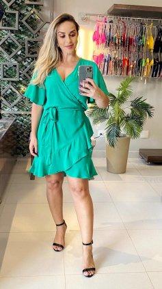 Imagem - Vestido Transpassado Juliana - Verde