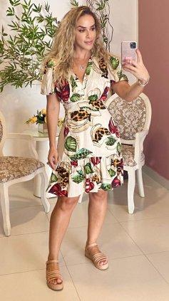 Imagem - Vestido Floral Curto - Off White Floral