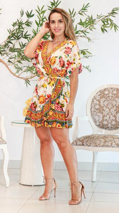Imagem - Vestido Exclusiva India - Estampa Amarela