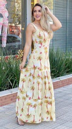 Imagem - Vestido Mina Estampado - Bege