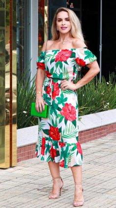 Imagem - Vestido Ombro a Ombro Ciganinha Midi - Floral