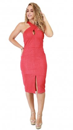 Imagem - Vestido Shine Lurex I20 - Vermelho