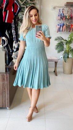 Imagem - Vestido Tricô Modal - Verde Claro