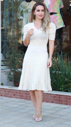 Imagem - Vestido Tricô Modal - Off White