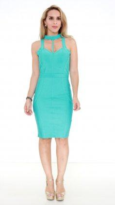Imagem - Vestido Trimix Bandagem PV19 - Azul