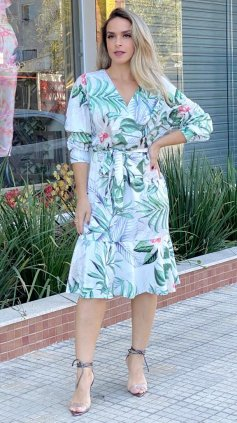 Imagem - Vestido Verde Floral - Estampa Verde