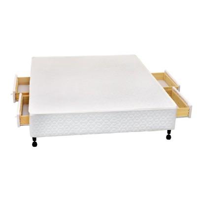 Box Castor SI Poli Branco 4 gavetas