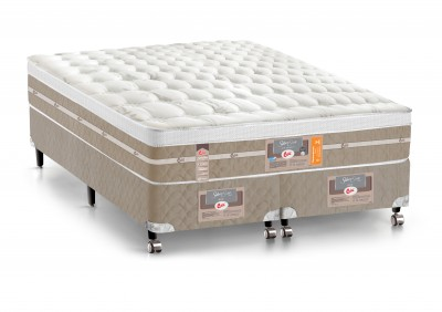 Conjunto Cama Box - Colchão Castor Mola Pocket® Silver Star AIR One Face com Box SI