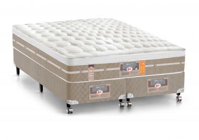 Conjunto Cama Box - Colchão Castor Mola Pocket® Silver Star AIR com Box SI