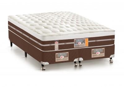 Conjunto Cama Box - Colchão Castor Silver Star Pocket® Híbrido AIR com Box SI