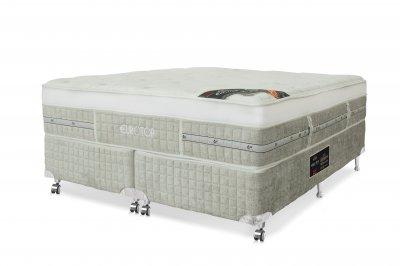 Conjunto Cama Box - Colchão Eurotop Summer & Winter Molas Pocket® Castor com Box SI