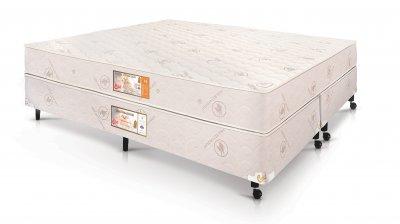 Conjunto Cama Box - Colchão Hotel Collection FOAM Fire Retardant D33 25 cm Castor com Box SI