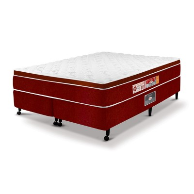 Cama Box + Colchão Castor Red & White D33 AIR One Face
