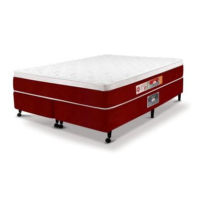 Cama Box + Colchão Castor Red & White D45 AIR One Face