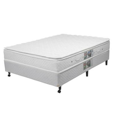 Conjunto Cama Box - Colchão Genebra Pillow Top One Side Molas Pocket® Castor com Box SI