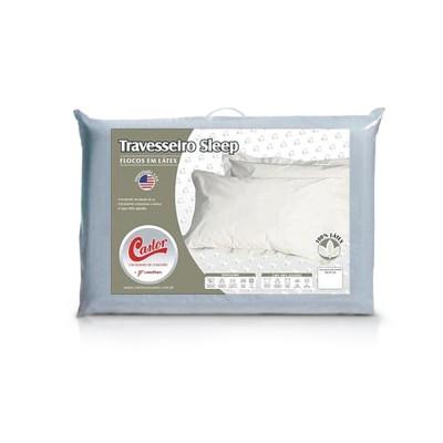 Travesseiro Castor Latex Flocos - 100% Algodão