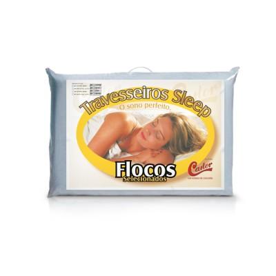 Travesseiro Castor Sleep Flocos Sel. - 75% Algodão 25% Poliester