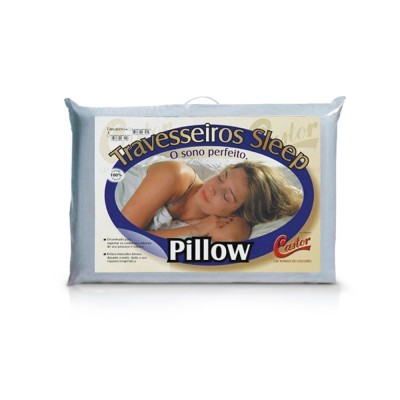 Travesseiro Castor Sleep Pillow - 75% Algodão 25% Poliéster
