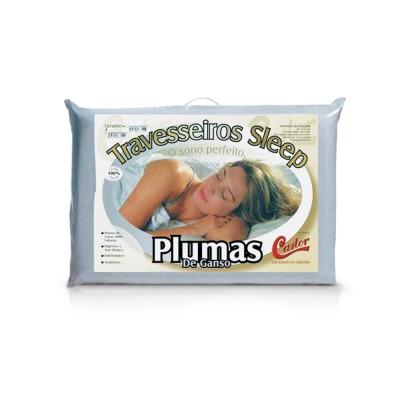 Travesseiro Castor Sleep Pluma de Ganso - 100% Algodão