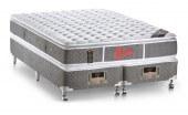 Imagem do produto - Conjunto Cama Box - Colchão Light Stress Double Face Molas Pocket® Castor com Box SI