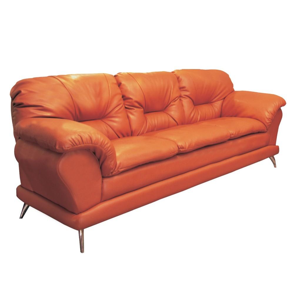 sofá florença 3 lugares couro