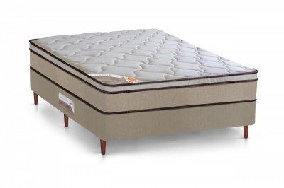 Cama Box + Colchão Castor Casal Híbrido Innovation One Face 138x188x67cm