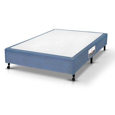 Cama Box Simples Castor Casal Poli Azul 138x188x27cm