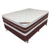 Imagem - Cama Box + Colchão Castor King Size Gold Star Lausane Molas Bonnel Double Face 193x203x74cm 28500/28453