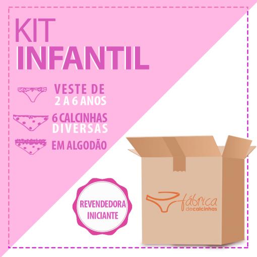 KIT C 6 CALCINHAS INFANTIS - DIVERSAS