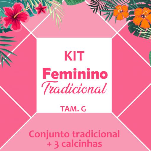 kit feminino - 4 peças tradicionais (G)