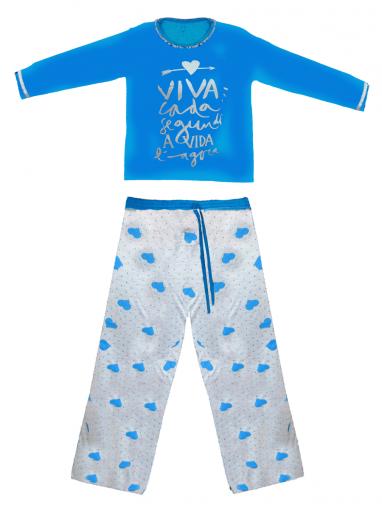 Pijama Plus Calça e Blusa Estampadas