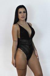 Imagem - Body em Tule com Renda - 39837002