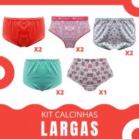 Imagem - Kit 9 Calcinhas Largas em Cotton e Algodão cód: kitsenhora