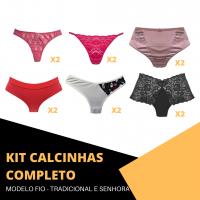 Imagem - Kit Calcinhas - Completo cód: kit