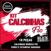 kit Calcinhas Fio- 10 peças