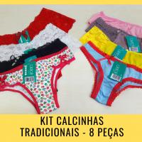 Imagem - Kit Calcinhas Tradicionais - 8 Peças cód: kit