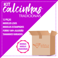 Kit Revenda Calcinhas- 12 peças