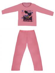 Imagem - Pijama Infantil/ Juvenil - Blusa Estampada Calça Lisa cód: 41262