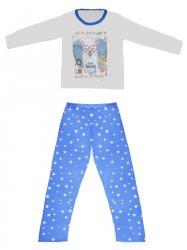 Imagem - Pijama Adulto Blusa e Calça Estampada cód: 41297011