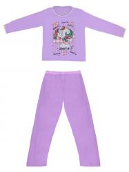 Imagem - Pijama Adulto Blusa Estampada e Calça Lisa cód: 41289008