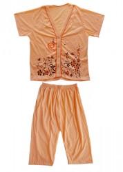Pijama de Botão em Malha