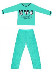 Imagem - Pijama Feminino Mickey Manga Longa cód: 43214011