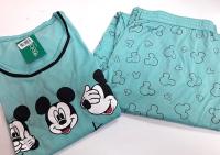 Imagem - Pijama Feminino Plus Size - Mickey Manga Longa cód: 43222011