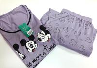 Imagem - Pijama Feminino Plus Size - Mickey Manga Longa cód: 43222001