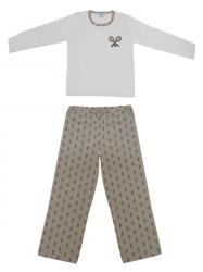 Imagem - Pijama Infantil/Juvenil - Masculino Calça Estampada cód: 41408013