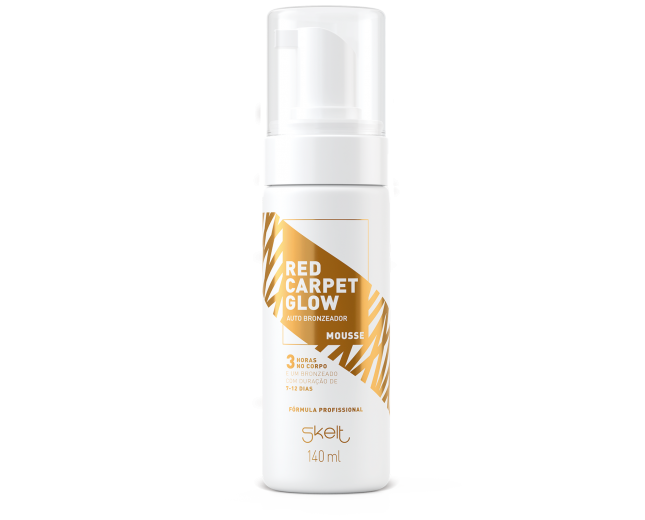 Autobronzeador em mousse red carpet glow SKELT 140ml
