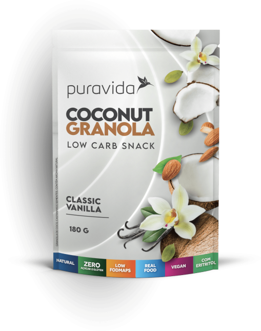 Coconut granola vanilla PURA VIDA 180g