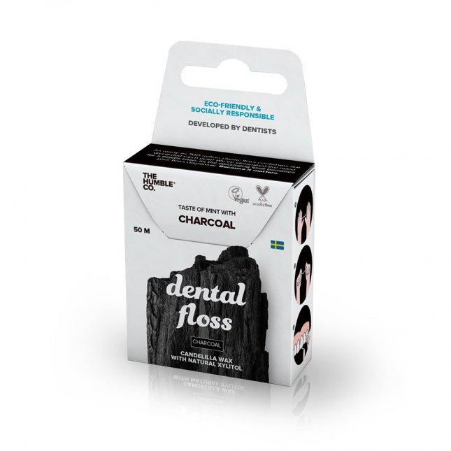 Fio dental orgânico THE HUMBLE 50m CHARCOAL