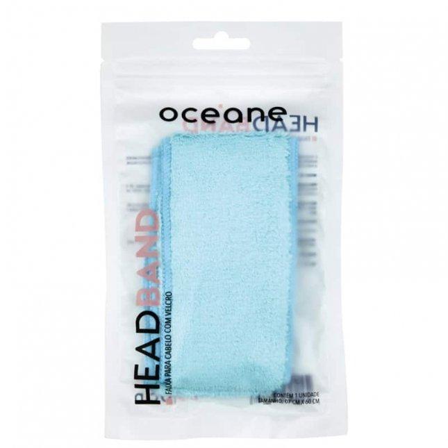 Headband faixa para cabelo com velcro OCEANE